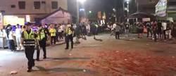 鬼月繞境陣頭當街鬥毆 快打警力逮2名滋事者