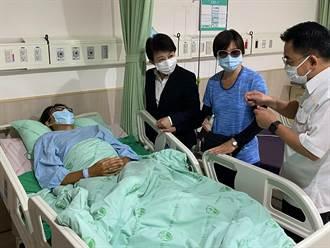台中兩警員執勤遭襲  盧秀燕昨晚趕往醫院探視慰問