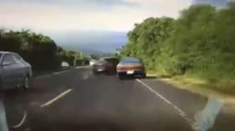 墾丁小鋼砲超狂逆向超車法曝光 下一秒摔入草叢 網:太療癒