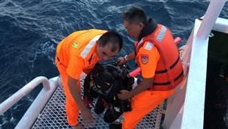 東吉海域潛水客落海失蹤 海巡隊即刻救援