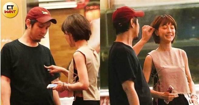 謝欣穎被拍和新男友D先生在熱炒店約會。(圖/取自CTWANT)