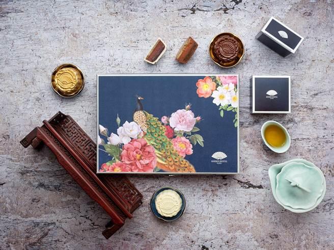 文華東方酒店文華餅房與屏東「福灣巧克力」合作,限量的手工創意巧克力月餅禮盒每盒6入,售價為2,380元。(圖/文華東方酒店)