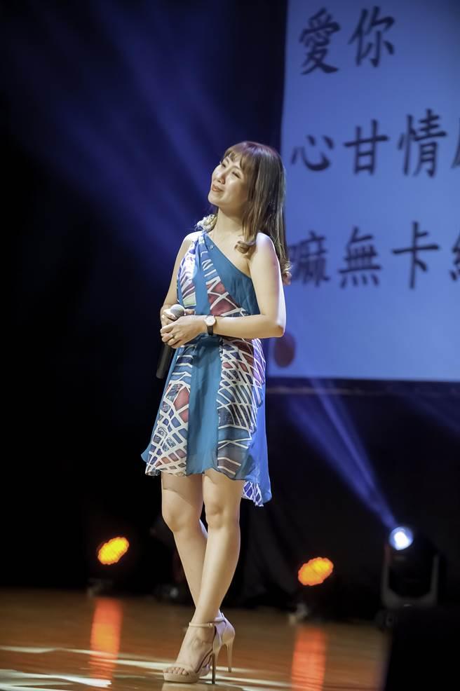 甜心魔王蘇峟蓉唱得動人心弦。(旺旺文教基金會提供)