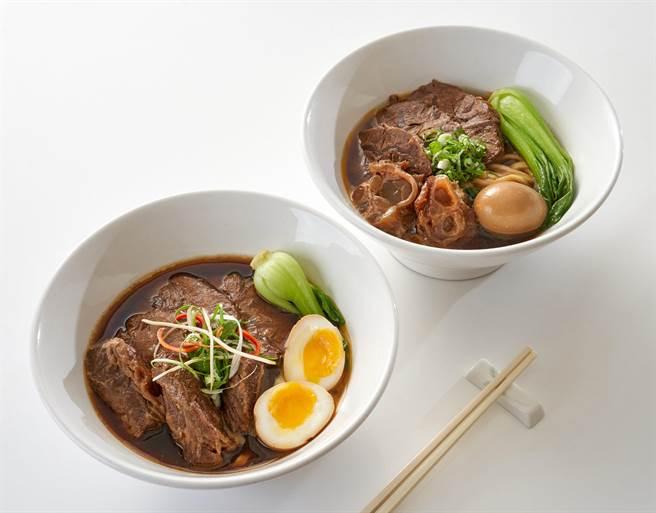 「中西美食餐券」可於七賢吧點—全日雙人牛肉麵套餐。(台北福華大飯店提供)