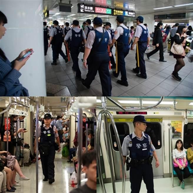 鄭捷事件後,警政署檢討捷運警察的人力問題,並增派警力支援,提高公共場所見警率,避免鄭捷事件再重現。(中時資料庫)