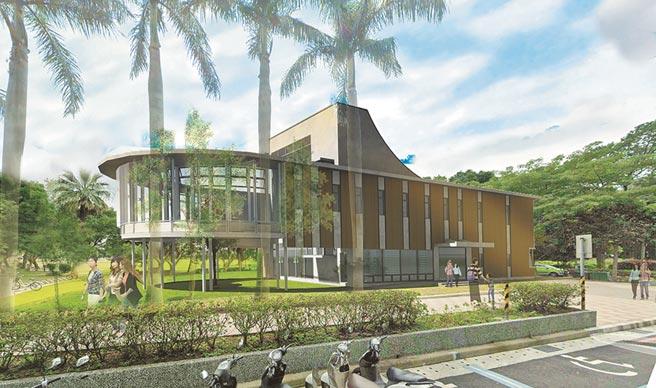 林口李科永紀念圖書館為2層樓綠建築,結合公園,打造親子休閒閱讀場所。(新北市圖提供/許家寧新北傳真)