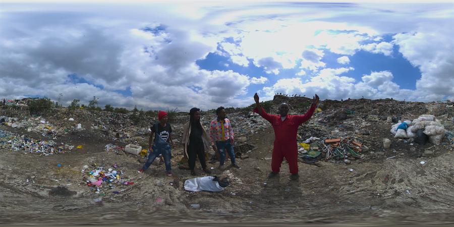 互動式VR作品《非洲空間創造者》。(威尼斯影展官方提供)