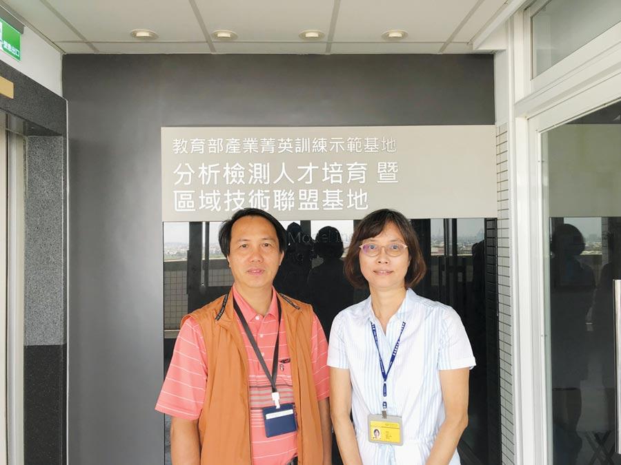 嘉藥食藥粧分析檢測中心主任鍾玉明(左)及醫藥化學系主任葉錦芬。圖/周榮發