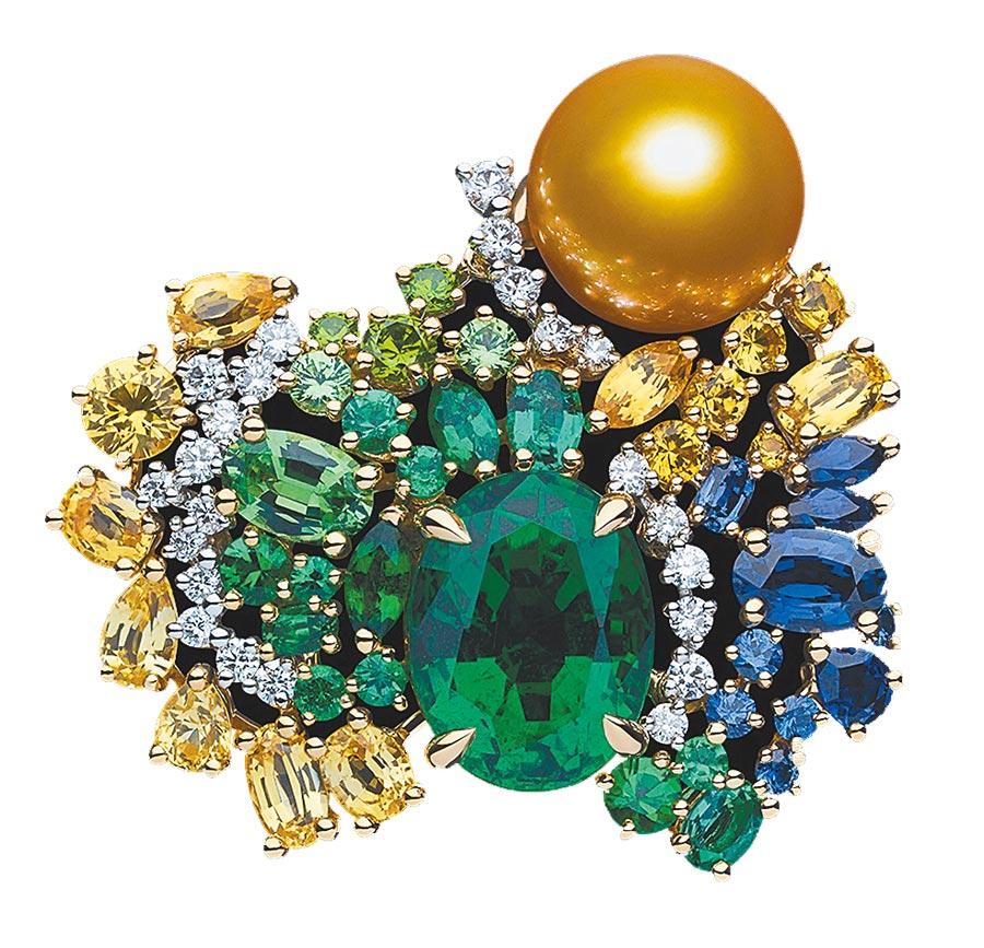 Dior「Tie & Dior」杏仁綠祖母綠戒指,約2000萬元。(Dior提供)