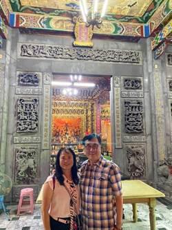 李四川到埔里包公廟 竟發現被點「光明燈」
