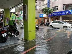 宜蘭下午大雨  市區多處汪洋一片