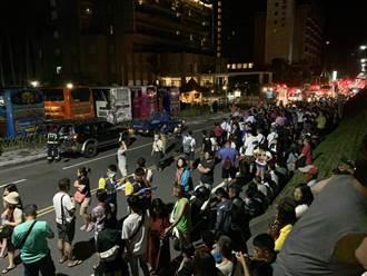 台東知本溫泉區飯店暗夜火警 疏散400多人全擠河堤上