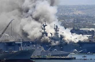 涉嫌放火毀了兩棲攻擊艦好人理查號 美水兵受調查