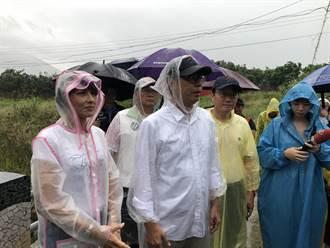 高雄山區停班停課 陳其邁一早到六龜視察野溪整治