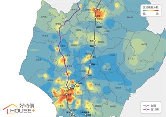 一張圖帶你看懂 台南哪邊生活機能最強