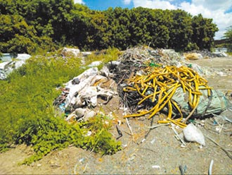 北市府垃圾 堆置嘉縣半片山