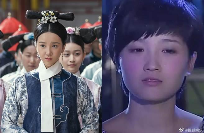 陳小紜過去演出如懿的宮女,舊照出土長相跟今日大不同。(圖/翻攝自電視劇如懿傳、搜狐娛樂微博)