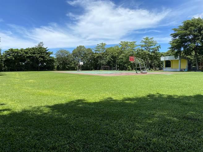 校園降溫不是只靠冷氣,目前台南市國中小學校園綠覆率平均超過50%,未來將持續輔導學校因地制宜研擬校園植樹計畫,並爭取中央相關經費補助。(曹婷婷攝)