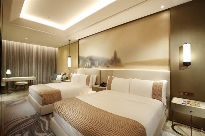 台北美福大飯店菁英客房。(美福提供)