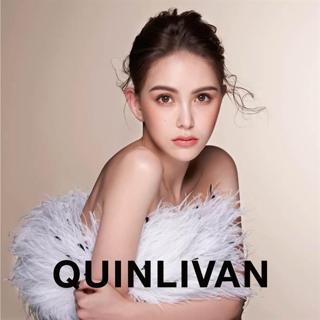 昆凌拍攝自有品牌「QUINLIVAN」形象圖。(QUINLIVAN提供)
