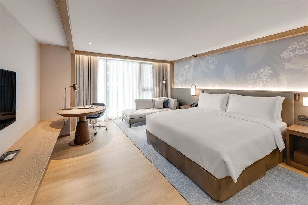 台北中山希爾頓逸林酒店客房。(業者提供)
