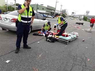 女騎士橫越馬路遭直行車撞 送醫搶救宣告不治
