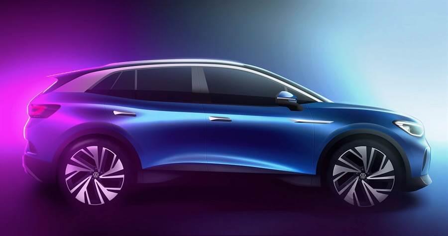 Volkswagen發佈ID.4 首款純電動力SUV設計草圖
