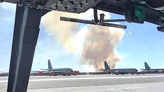 美森林大火威脅空軍基地 火勢逼近空中加油機