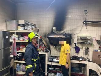 台中便當店疑煮水燒焦起火 住警器作響無人傷