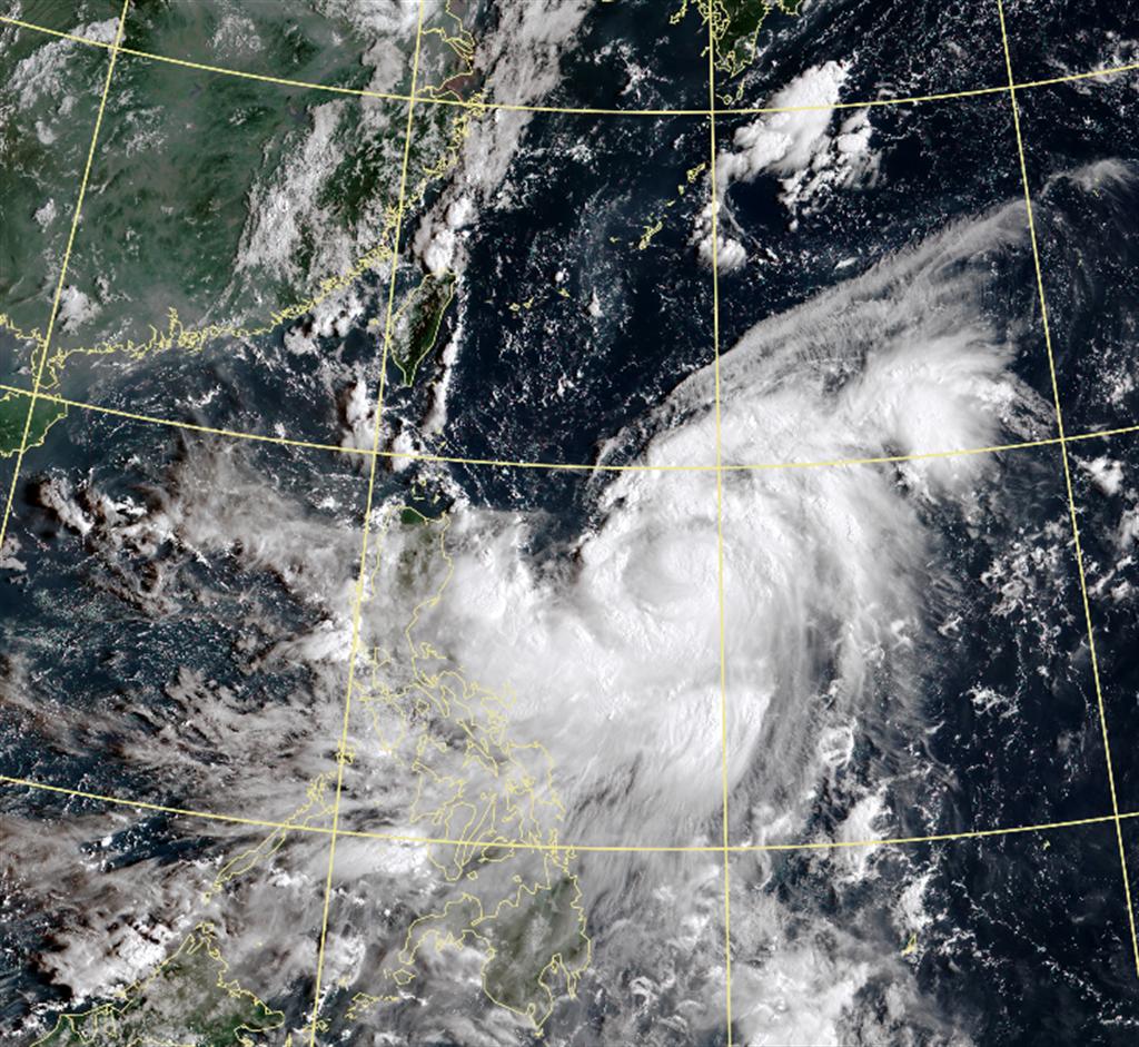 風王「梅莎」不排除轉強颱 明最接近台灣 2地區變天。(中央氣象局 衛星雲圖)