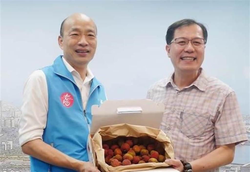 高雄前市長韓國瑜、高雄市前農業局長吳芳銘。(圖/翻攝自 韓國瑜臉書)