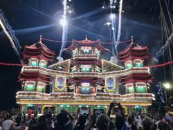 雞籠主普壇開燈放彩 結合嘻哈跨域演出