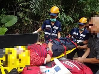 嘉義男載父母上山割筍 返家滑落邊坡母重傷送醫