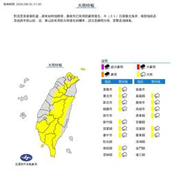 下班小心!午後雷雨擴散 全台15縣市大雨特報