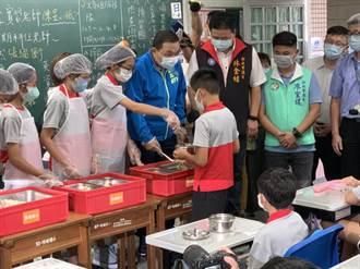 侯友宜視察校園營養午餐 擬變更契約強制使用國產豬