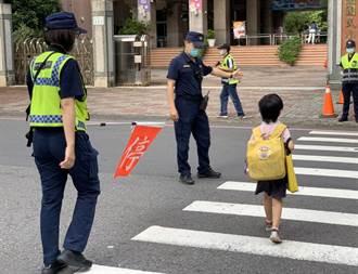 臨開學日 高市警護童安心上下學