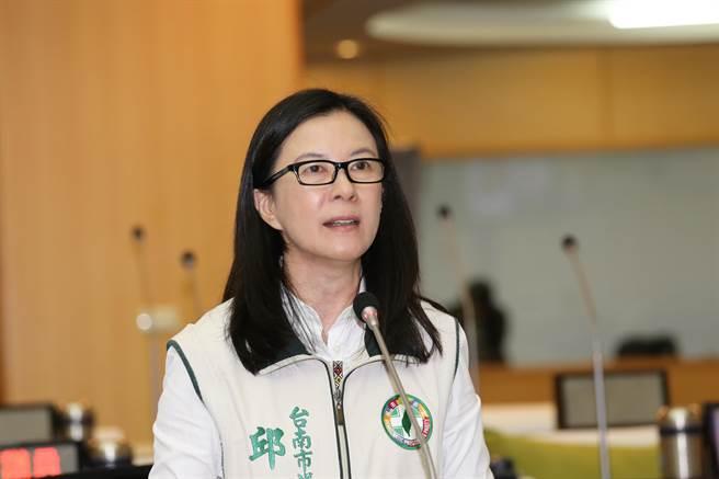 台南市議會民進黨團總召邱莉莉發表聲明,呼籲國民黨理性面對過去8年來的時空轉變,不該為反對而反對。(本報資料照片)