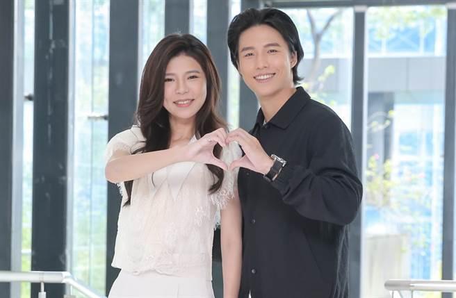 林禹和張懷媗出席戲說台灣《新娘神救姻緣》記者會。(圖/盧禕祺攝)