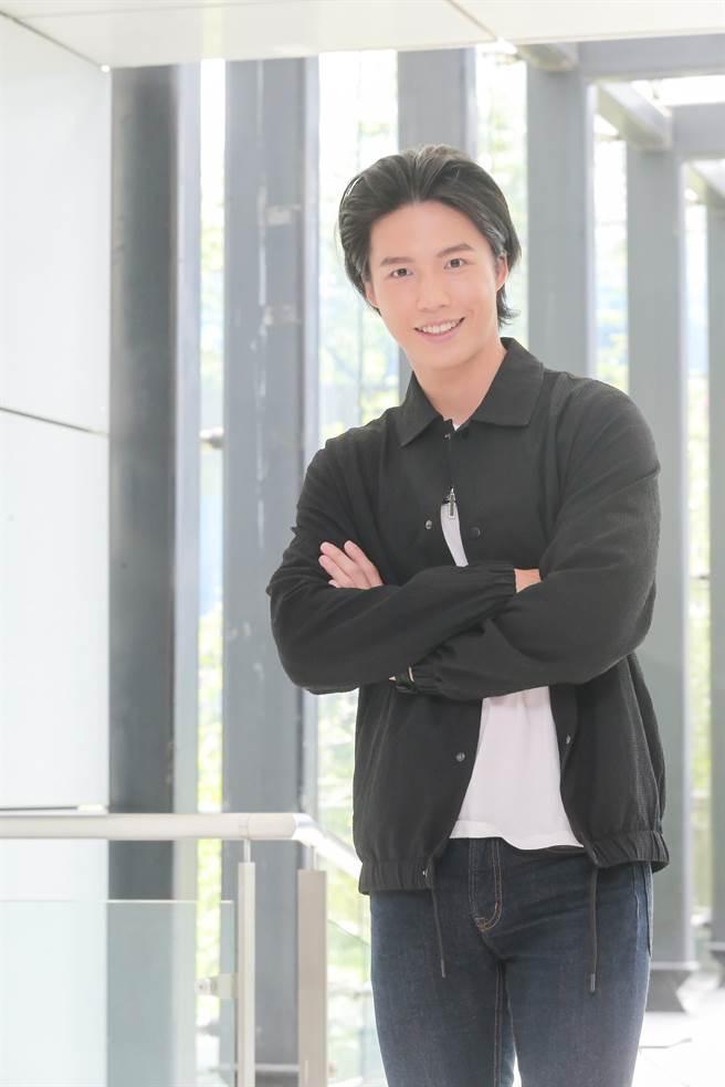 林瑞阳帅气儿子林禹出席新戏记者会。(卢祎祺摄)