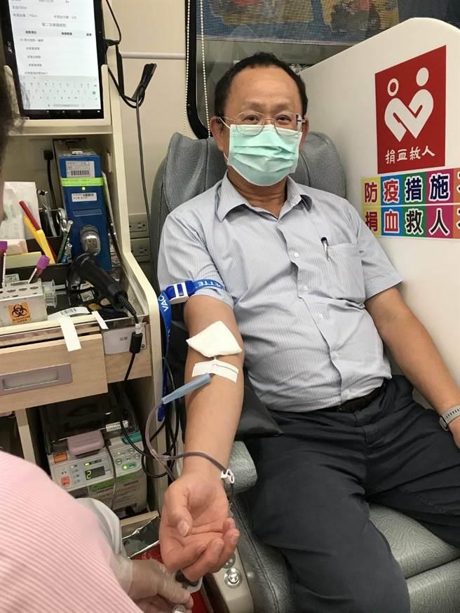 中油大林煉油廠加入「百萬CC捐血活動」。(中油大林廠提供/柯宗緯高雄傳真)