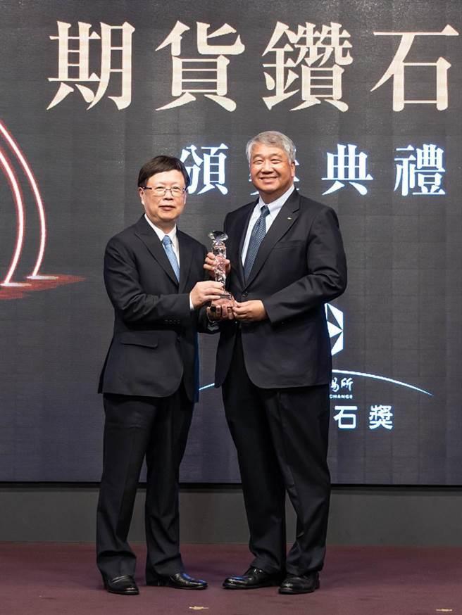 期交所董事長吳自心(左),元富證券董事長陳俊宏(右)。圖/元富證券提供