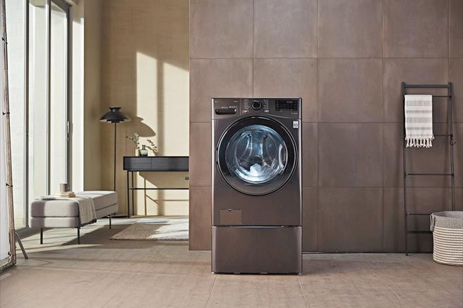 LG的滾筒式洗衣機為台灣3C通路中熱銷的滾筒洗衣機第1名,自2016年至今已經成長了15%。(LG提供)