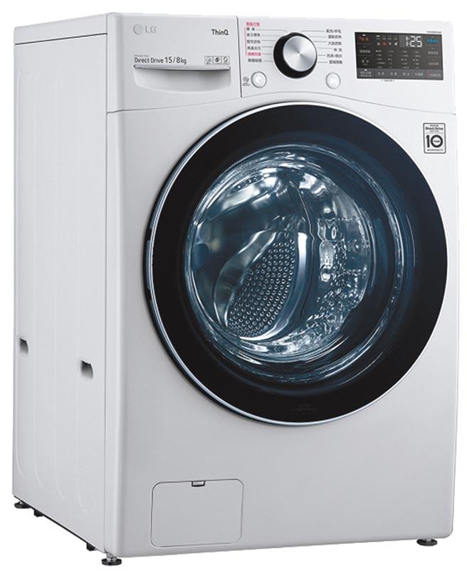 全國電子洗衣機銷售排名第1的LG 15KG蒸氣洗脫烘滾筒洗衣機,特價4萬1900元,買就送Neolam Snow白色炒鍋及玻璃蓋,加碼送1881清涼一夏拉桿冰桶。(全國電子提供)
