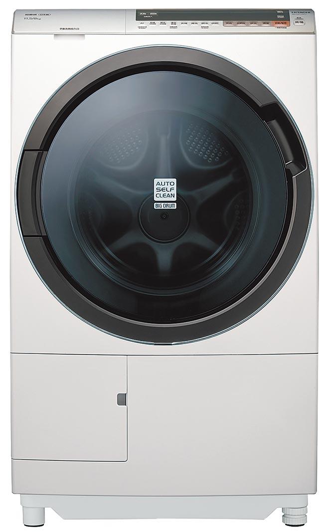 全國電子洗衣機銷售排名第2的HITACHI 11.5KG AI智慧洗脫烘滾筒洗衣機,特價6萬6900元,店內另享優惠價,加碼送1881清涼一夏拉桿冰桶。(全國電子提供)