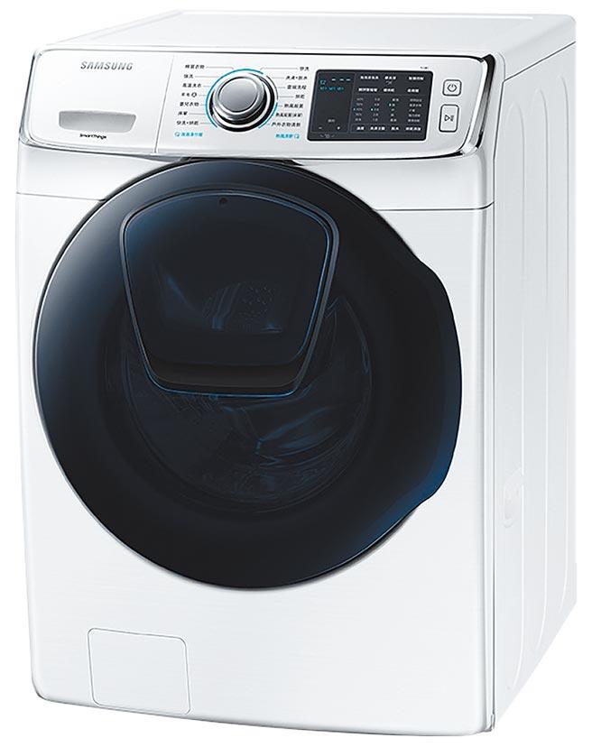 全國電子洗衣機銷售排名第3的三星17KG潔徑門洗脫烘滾筒洗衣機,原價4萬9900元,特價3萬9900元,加碼送1881清涼一夏拉桿冰桶。(全國電子提供)
