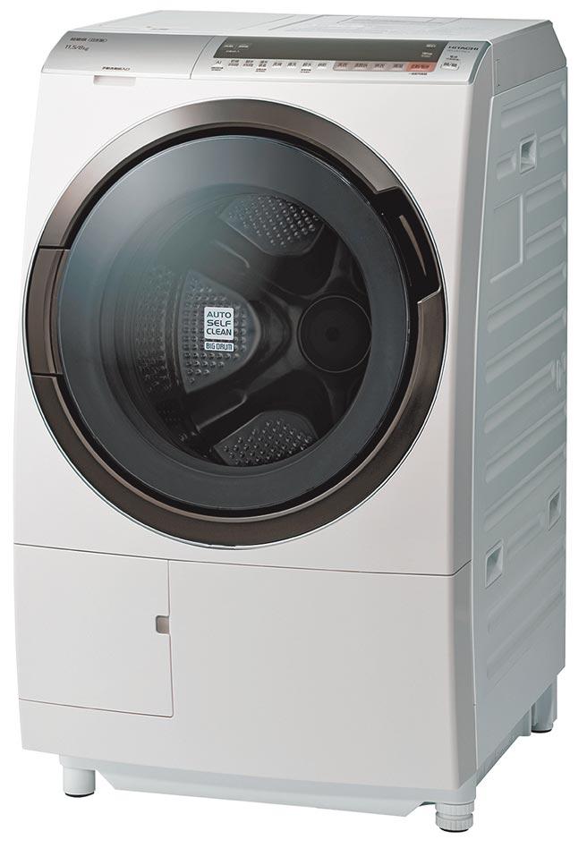 燦坤洗衣機銷售排名第3的HITACHI 11.5公斤溫水擺動式洗脫烘洗衣機,原價6萬6900元,促銷價6萬1900元,送5年延保及獨家贈品。(燦坤提供)