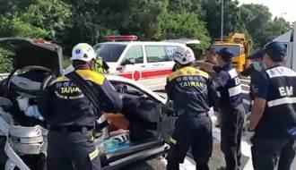 國道3號大林段小客車、物流車擦撞 1婦CPR後恢復生命跡象