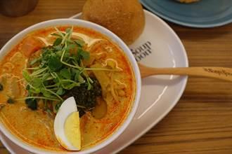 邀旅人放下包包秤重「免費吃碗湯」 新加坡知名湯品北車旗艦店開幕慶