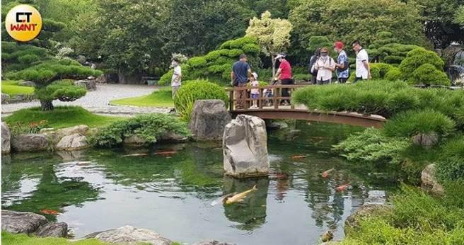 庭園造景是成美文化園的一大特色。(圖/胡華勝攝)