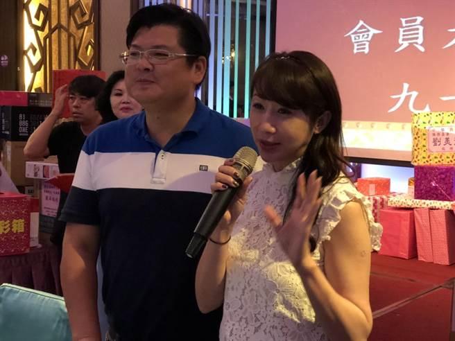 台北市議員許淑華(右1)赴基隆參加活動。(吳康瑋攝)